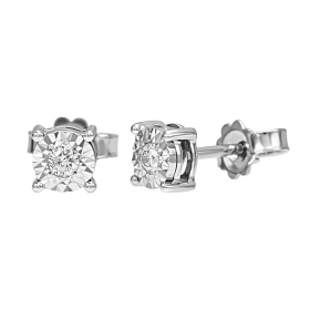 Bliss earrings light point with 18kt white gold all diamonds bought by 0.05 ct 20069886