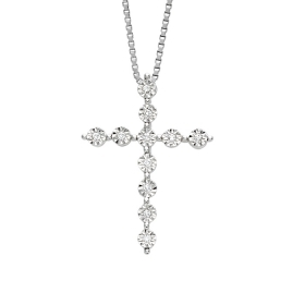 Bliss necklace cross, white go