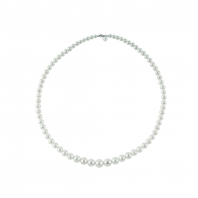 Bliss woman necklace collier beads Paradise 18kt white gold 45cm 20068692