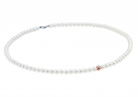 Bliss woman necklace collier beads Paradise 18kt white gold 45cm 20070973