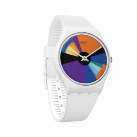 Swatch gent watch with white d