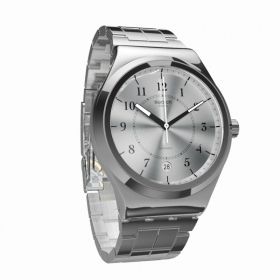 Swatch automatic watch stainless steel date display SISTEM CHECK YIS412G