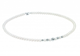 Bliss woman necklace collier beads Paradise 18kt white gold 45cm 20070987