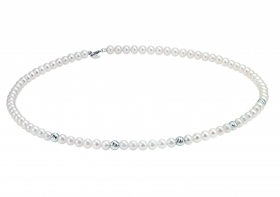 Bliss woman necklace collier beads Paradise 18kt white gold 45cm 20070990
