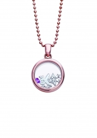 Bliss necklace, the joys silver rose cubic zirconia girl 20073567