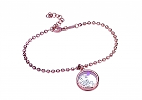 Bliss bracelet the joys silver rose with cubic zirconia girl 20073572