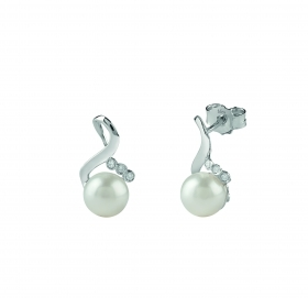 Bliss earrings Mademoiselle pearl diamond 20073763