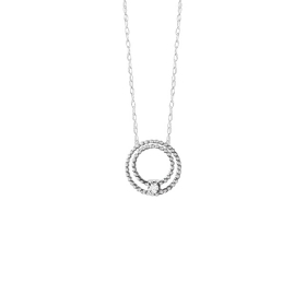 Bliss necklace olimpia 18kt white gold with diamonds 20073818