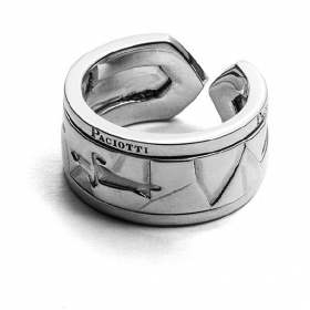 Cesare paciotti jewels, silver ring adjustable JPAN1394B