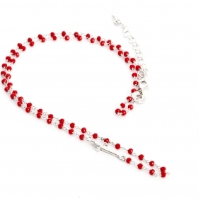 Cesare paciotti jewels necklace with ball faceted red JPCL1119B