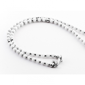Cesare Paciotti Jewels, necklace grain white silver JPCL1023B