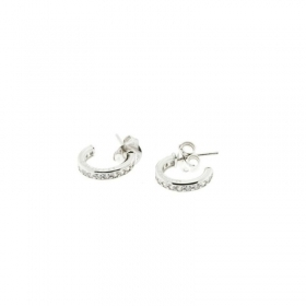 Cesare Paciotti Jewels earrings silver with cubic zirconia JPOR0814B
