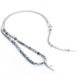 Cesare Paciotti jewels, necklace grains blue light JPCL1115B