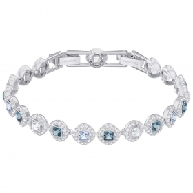 Swarovski Bracelet Angelic Square, blue, plating rhodium 5289514