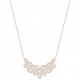 Swarovski Necklace Baron, white, pink gold-plated 5350616