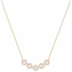 Swarovski Necklace Angelic Square, white, pink gold-plated 5351305