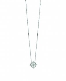 Bliss necklace Collier Point Light in White Gold 18kt and Di
