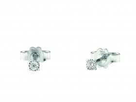 Bliss earrings light point with 18kt white gold diamond 0,06 ct 20075349