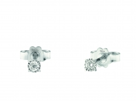 Bliss earrings light point with 18kt white gold diamond 0,1 ct 20075351