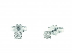 Bliss earrings light point with 18kt white gold, diamond 0,12 ct 20075352