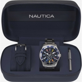 Nautica box 2 strap acci skin blue quad blue ribbon flags NAPWCH001