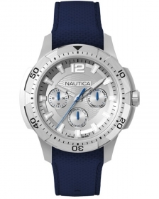 Nautica multifunction watch steel case cint blue NAPSDG002