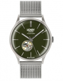 Henry London automatic watch stainless steel green dial HL42-AM-0283