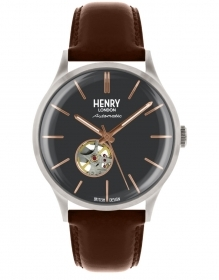 Henry London clock autoamtico steel leather strap HL42-AS-0281