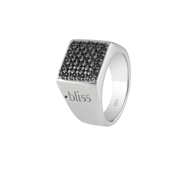 Bliss ring man chavalier silver spinelli black diamant black 20075631