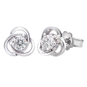 Bliss earrings point light diamond certificate igi 0,2 ct 20073320
