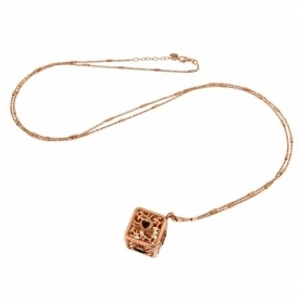 Pendant Nut on the necklace Barrels, electroplating rose gold CL018DADO