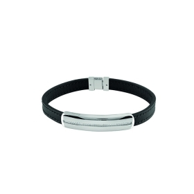 Bliss bracelet man cambridge silver leather 20075139