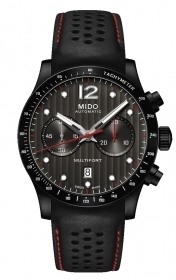 Mido mens watch chrono steel black Pvd chrono date M025.627.36.061.00