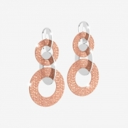 Rebecca earrings r-zero stainless steel bronze hook BRZOX005
