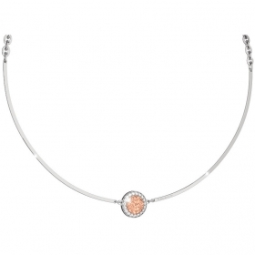 Rebecca necklace in bronze and rhodium plated white cubic zirconia BRZKBR52