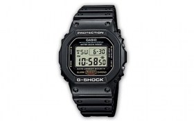 Casio g-shock digital watch black lap timer alarm clock DW-5600E-1VER