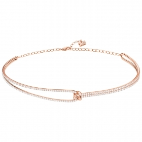 Swarovski Choker Lifelong, white, pink gold-plated 5392925