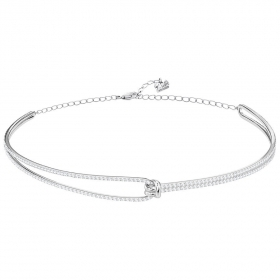 Swarovski Choker Lifelong, white, rhodium plating 5390822
