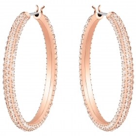 Swarovski hoop Earrings, Stone