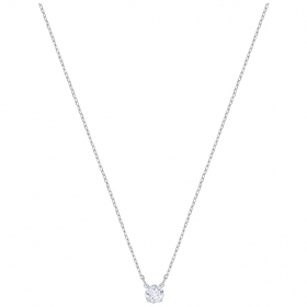 Swarovski Necklace Attract, Round, white, rhodium plating 5408442
