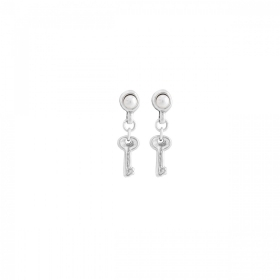 Uno de 50 earrings pearl key P