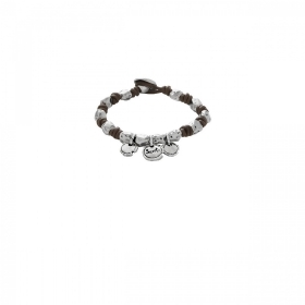 Uno de 50 bracelet leather bea
