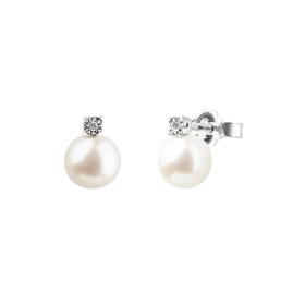 Bliss pearl earrings with dimanate 0.02 ct 20070781