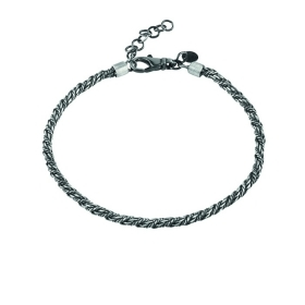 Bliss bracelet man silver antiqued 20075574
