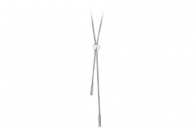 Rosé silver necklace with scorritoio long RSOE02