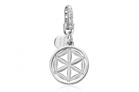 Rosato charm in sterling silver flower of life cubic zirconia RLU041