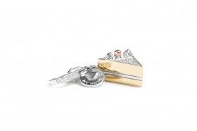 Rosato charm silver slice of cake gold plating RHO018