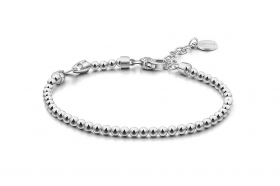 Rosato bracelet silver balls with 1 ring for charm RBR30