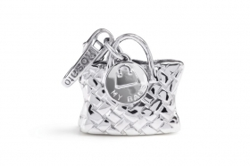 Rosato charm silver bag, shopping bag, RBA007