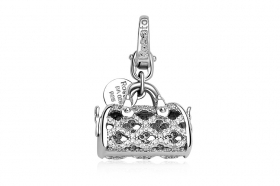 Rosato charm a silver purse with cubic zirconia RBA029